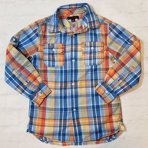 Tommy Hilfiger Boys Plaid Button Up Shirt
